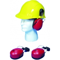 M50501, Hard Hat Mounted Ear Muffs, SNR 23db and NRR 22db, Mega Safety Mart