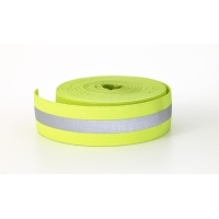 Reflective Elastic, 1.5 in Wide, 10 yds, Lime