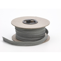 M62-050-6314-25, Broadcloth cord piping, 1/2 in Wide, 25 yds, Smoke, Mega Safety Mart
