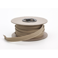 Broadcloth cord piping, 1/2 in Wide, 25 yds, Khaki