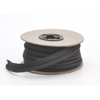 M62-050-9999-25, Broadcloth cord piping, 1/2 in Wide, 25 yds, Black, Mega Safety Mart