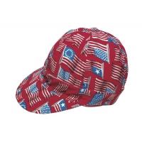 M7355-0-0, Kromer Welder Cap, Cotton, Length 5 in, Width 6 in- 1size, Wave Flag, Mega Safety Mart