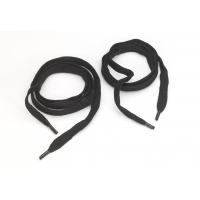 Flat cord 5/8 in tipped laces, 60 in lengths, Black