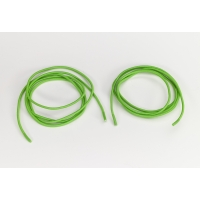 Shock cord 5/8 in tipped laces, 54 in lengths, Neon green