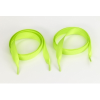 Grosgrain 5/8 in tipped laces, 60 in lengths, Neon green