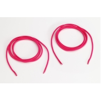 Shock cord 5/8 in tipped laces, 48 in lengths, Neon pink
