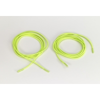 Shock cord 5/8 in tipped laces, 54 in lengths, Neon yellow