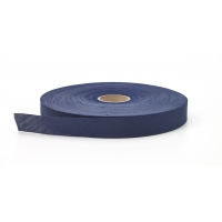 Broadcloth flat bias binding, 1 in Wide, 25 yds, Navy