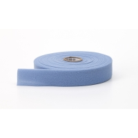 Quilt binding, brushed, 2 in fold in half, finish 1 in, 25 yds, Light blue