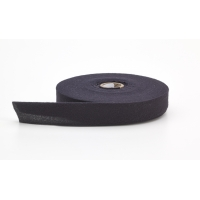 Quilt binding, brushed, 2 in fold in half, finish 1 in, 25 yds, Black