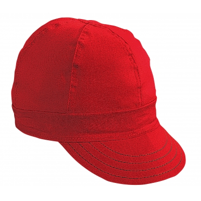00052-00000-7875, Kromer Red Twill Style Welder Cap 7 7/ 8, Cotton, Length 5, Width 6, Mutual Industries