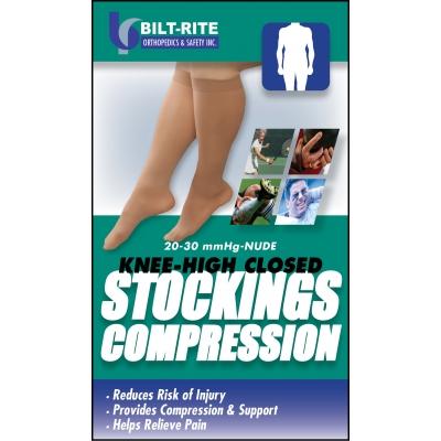 10-71700, Knee-High Stockings - 20-30 mmHg Black, Mega Safety Mart