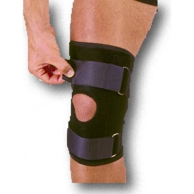 1075520, Neoprene Knee Stabilizer with Straps, Adjustable, Mega Safety Mart