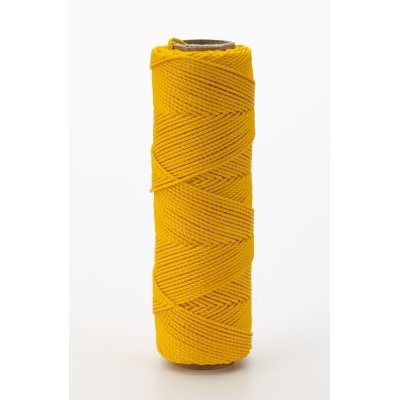 14662-138-250, Nylon Mason Twine, 1/4 lb. Braided, 18 x 250 ft., Glo Yellow (Pack of 6), Mutual Industries