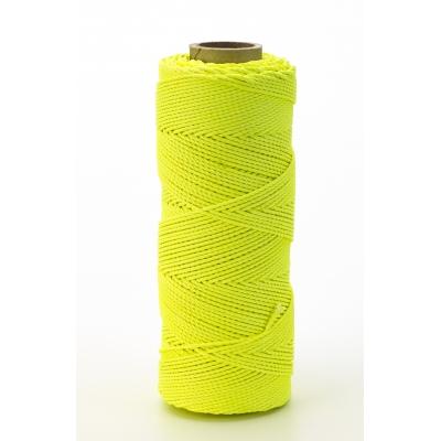 14662-139-500, Nylon Mason Twine, 1/2 lb. Braided, 18 x 500 ft., Glo Lime (Pack of 6), Mega Safety Mart