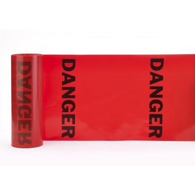 14667-1-16, Tear-Off Danger Flags, Printed with DANGER, 16 in X 16 in X 300 ft, Mutual Industries
