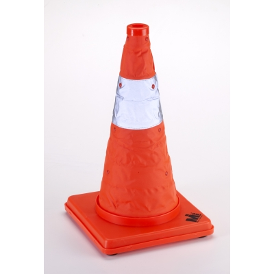 17714-1-18, Nylon Collapsible Traffic Cone, 18 Height, Orange -1PK, Mutual Industries