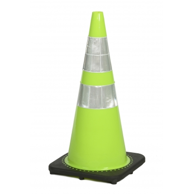 17717-128-7, Traffic Cone with 7 lbs Reflective, 28 Height, Lime, Mutual Industries