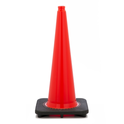17721-28-7, Traffic Cone with 7 lbs Plain Finish, 28 Height, Orange, Mutual Industries