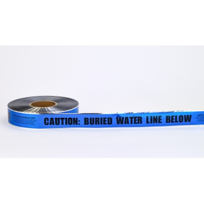 17774-25-2000, Polyethylene Underground Water Line Detectable Marking Tape, 1000' Length x 2 Width, Blue, Mutual Industries
