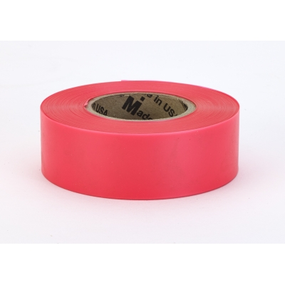 17777-179-1875, PVC TUNDRA Flagging Tape, 5 mil, 1-3/16 x 50 yd., Glo Red (Pack of 12), Mega Safety Mart
