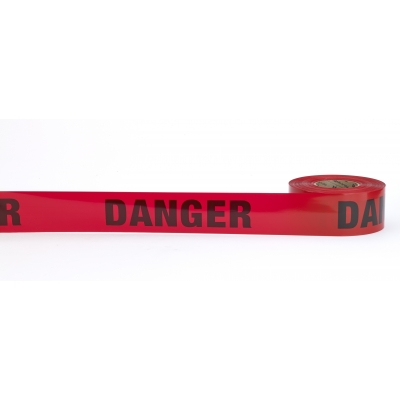 17779-79-0300, Barricade Tape, Caution Do No Enter, 3 mil, 3 x 300', Red (Pack of 16), Mutual Industries