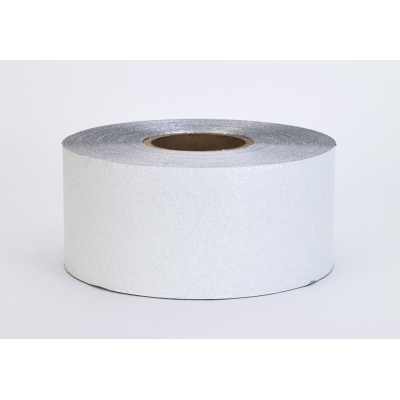 17792-10-4000, Construction Grade Foil Backed Pavement Marking Adhesive Tape, 100 yds Length x 4 Width, White, Mutual Industries