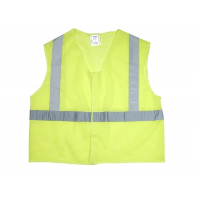 20025-0-104, ANSI Class 2 Non Durable Flame Retardant Vest, Mesh, Lime -XLarge, Mutual Industries