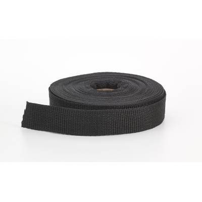 2020-002-1-10, Polypropylene webbing, 1 Wide, 10 yds, Black, Mutual Industries
