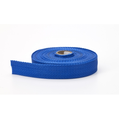 2020-604-150-10, Polypropylene webbing, 1.5 Wide, 10 yds, Pacific blue, Mutual Industries