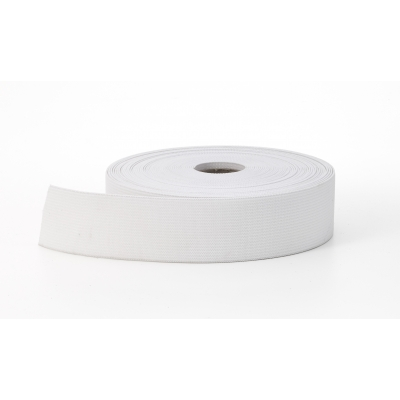 3080-0000-2-10, Knit elastic, White 2 - 10 yards, Mutual Industries