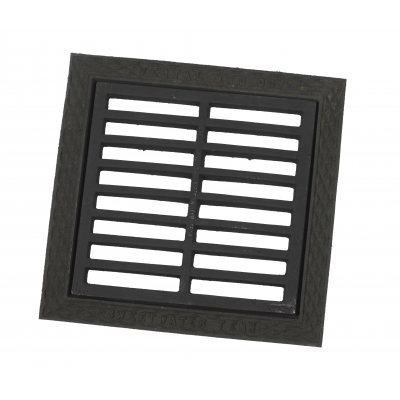 35011-0-0, 18 in X 18 in Cast Iron Grate, Mega Safety Mart