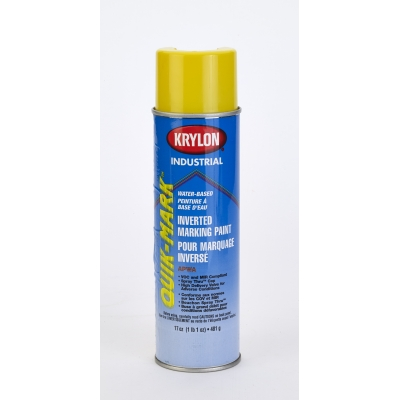 Waterbased Inverted Spray Paint Yellow 3801 20 Oz 12 Pk