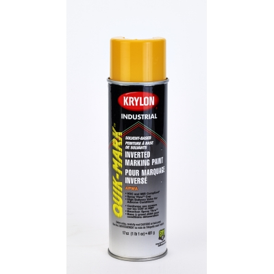 3823-41, Krylon Inverted Marking Paint, 20 oz, 12 PK, S03823V-Apwa Saf Yellow, Mutual Industries