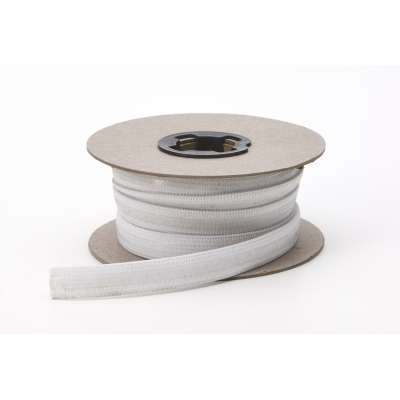 4020-0000-050-10, Non skid clear silicon elastic, .5 Wide, 10 yds, White, Mutual Industries