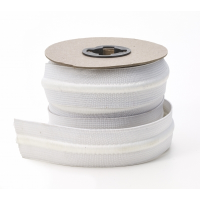 4055-125-10, Draw cord elastic, White 1-1/4 - 10 yards, Mutual Industries