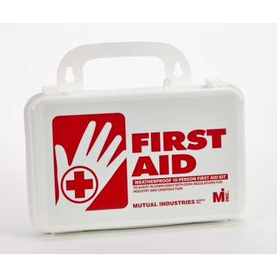 50001, 10 Person Weatherproof First Aid Kit, Mega Safety Mart