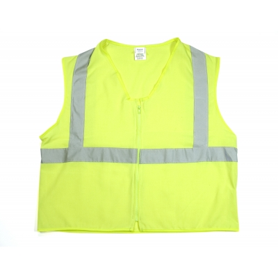 80070-0-103, ANSI Class 2 Durable Flame Retardant Vest, Solid, Lime, Large, Mutual Industries