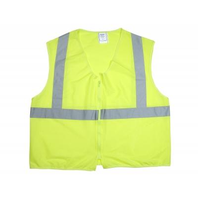 84900-0-102, ANSI Class 2 Non Durable Flame Retardant Vest, Solid, Lime, Medium, Mega Safety Mart
