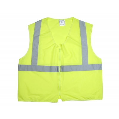 84900-0-105, ANSI Class 2 Non Durable Flame Retardant Vest, Solid, Lime, 2XLarge, Mega Safety Mart