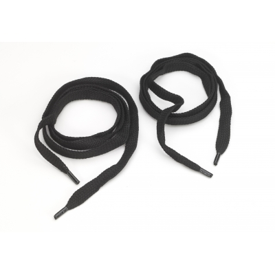 8900-9999-60F, Flat cord 5/8 tipped laces, 60 lengths, Black, Mutual Industries