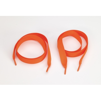 8900-NO-60GG, Grosgrain 5/8 tipped laces, 60 lengths, Neon orange, Mutual Industries
