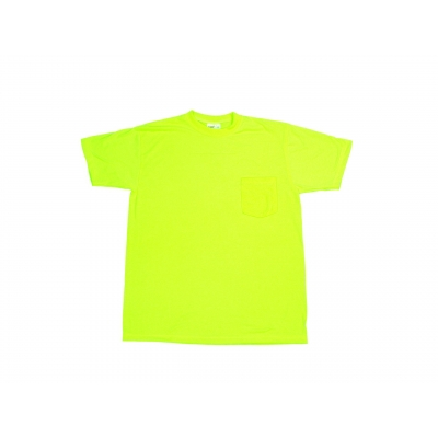 96000-0-104, Durable Flame Retardant T-Shirt, Lime, XLarge, Mutual Industries