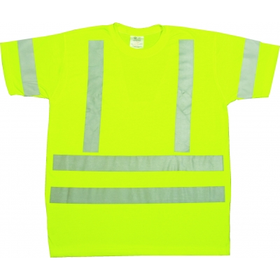 96002-0-105, ANSI Class 3 Durable Flame Retardant T-Shirt, Lime, 2XLarge, Mega Safety Mart