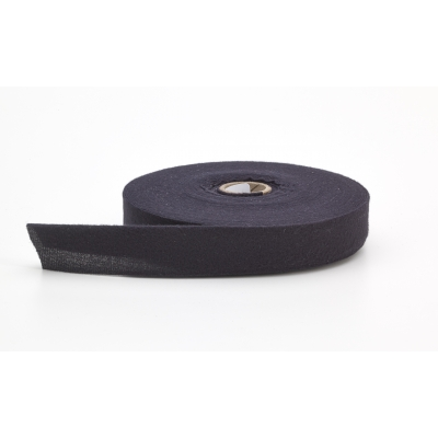 9800-801-25, Quilt binding, brushed, 1 centerfold, 25 yds, Black, Mutual Industries