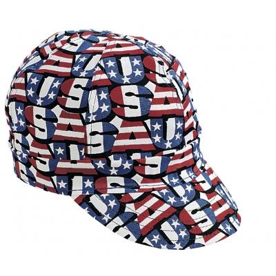 M00210-00000-0008, Kromer Red White Blue USA Style Welder Cap, Cotton, Length 5, Width 6, Mega Safety Mart