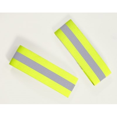 M14509-0-1, Reflective Elastic Armband with Velcro Closure, 15 in. Length x 1-1/2 in. Width, Lime, Mutual Industries