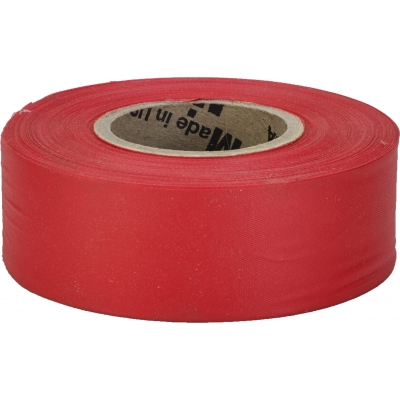 M16002-79-1875, Flagging Tape, Ultra Standard, Red (Pack of 12), Mutual Industries