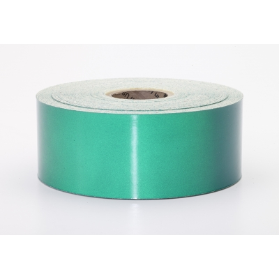 M17786-3810-2000, Pressure Sensitive Engineering Grade Retro Reflective Adhesive Tape, 2 x 10 yd., Green, Mutual Industries