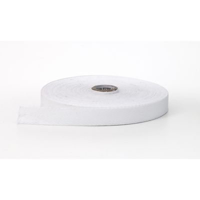 M1900-0000-1-36, Twill tape, 1 in Wide, 36 yds, White, Mutual Industries
